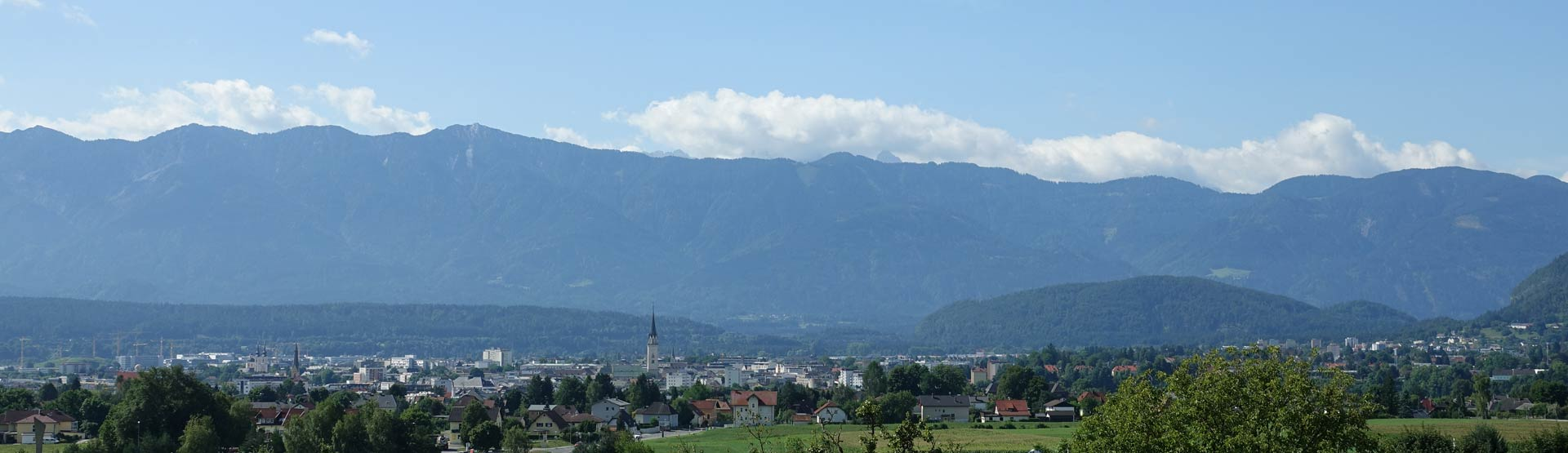View over Villach from Gasthof Bacher